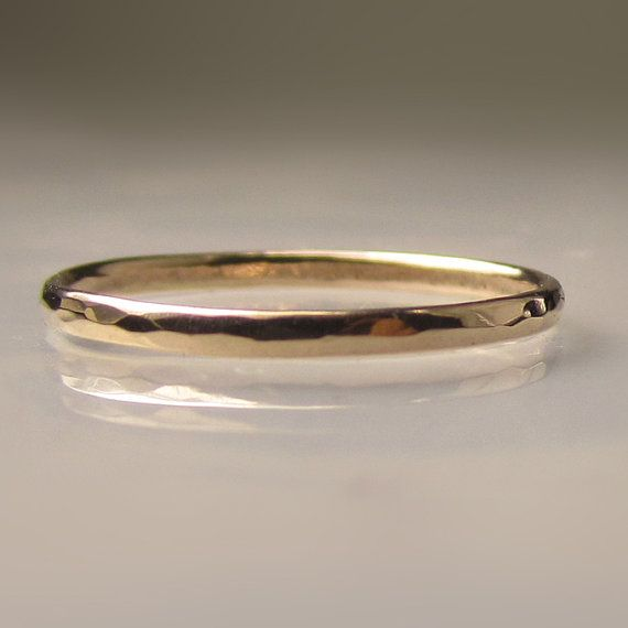 Thin womens gold hammered wedding band 15mm recycled 14k gold thin womens gold hammered wedding band 15mm recycled 14k gold ring slim 14k yellow gold band made to order publicscrutiny Images