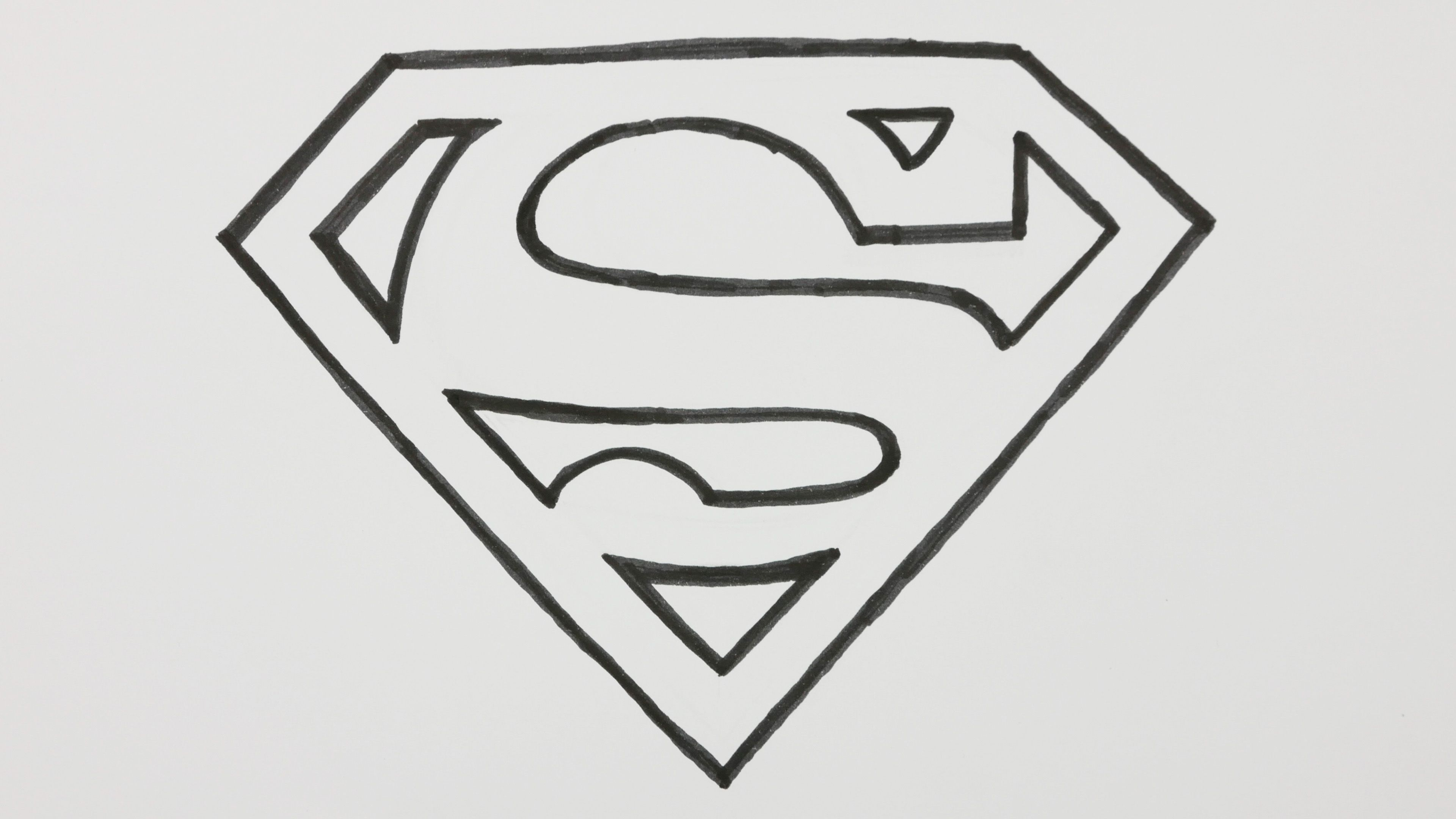 How to Draw a Superman Logo Doodle Cartoon Comic [Video