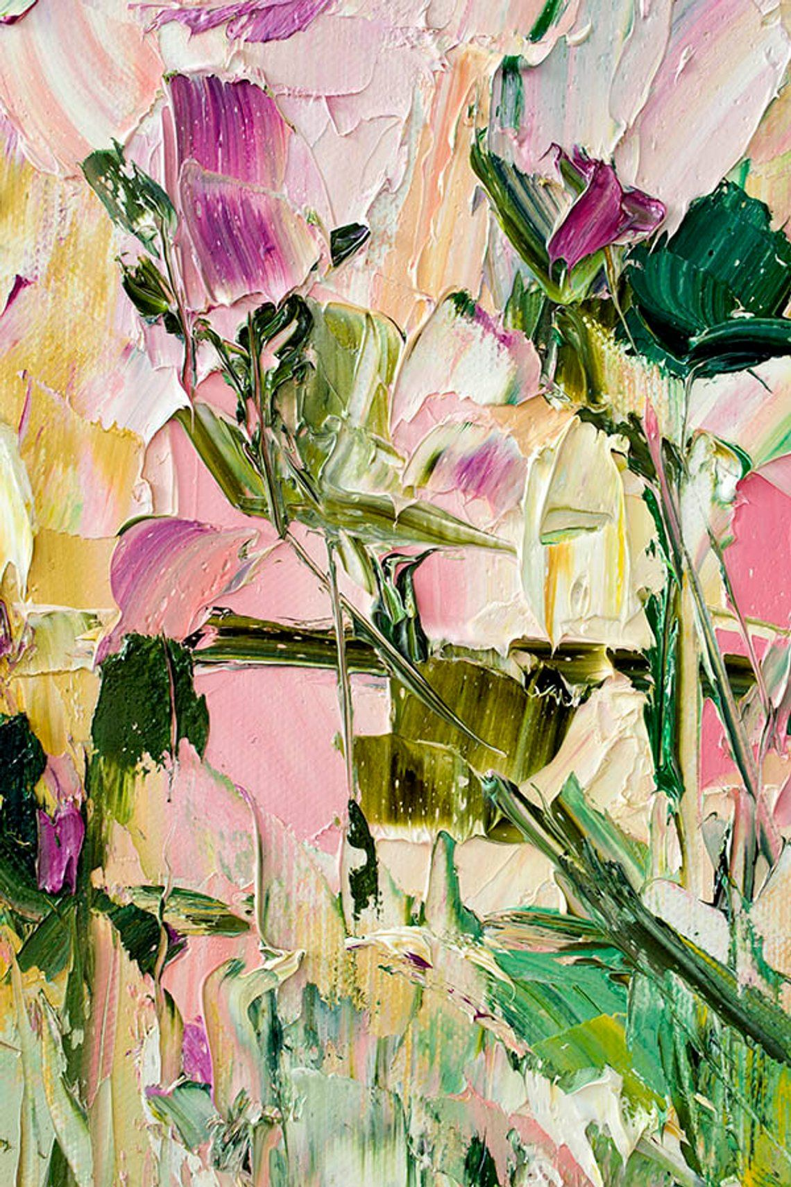 Rabatt Gelbe Blumen Malerei Leinwand 2020 Gelbe Blumen Malerei