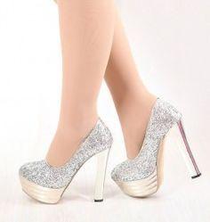 58839cf33c0 Zapatos Plateados de Fiesta