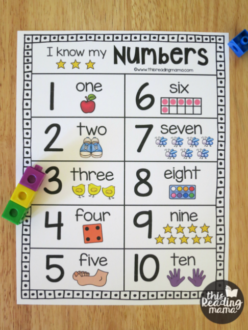Printable Number Chart for Numbers 120 Printable