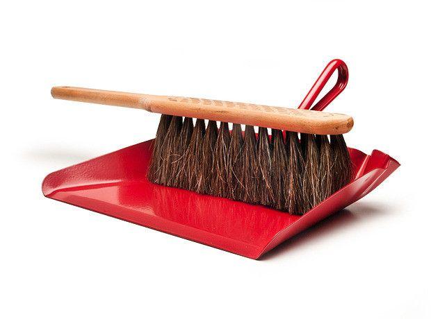 Horsehair Hand Broom and Metal Dustpan