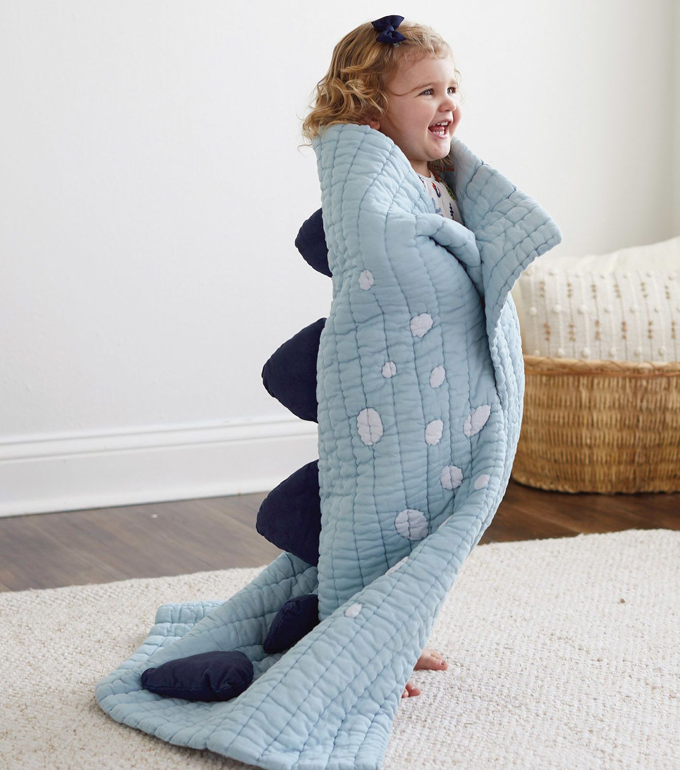 Pink Dino Spine Blanket