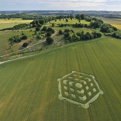 Crop Circle at Nether Wallop, Hampshire, UK - 6 July 2010