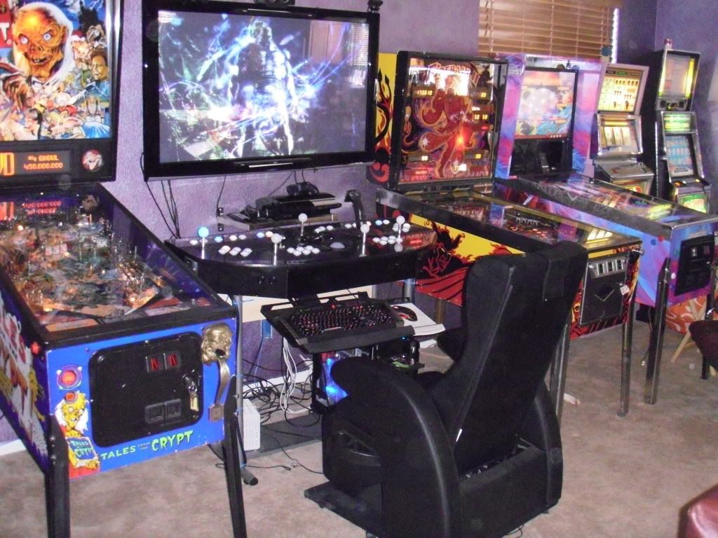I Totally Want To Make This Mine And My Husbands Game Room Pinball Room Is Neat But I Have A Feeling That The Pcsetup Will Be A Must