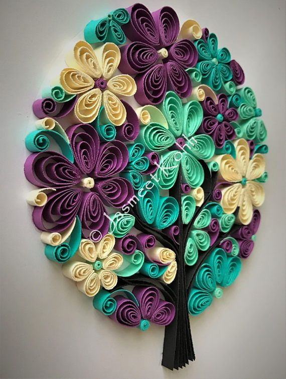 Family Tree Paper Art Quilled Family Tree Decorative Wall