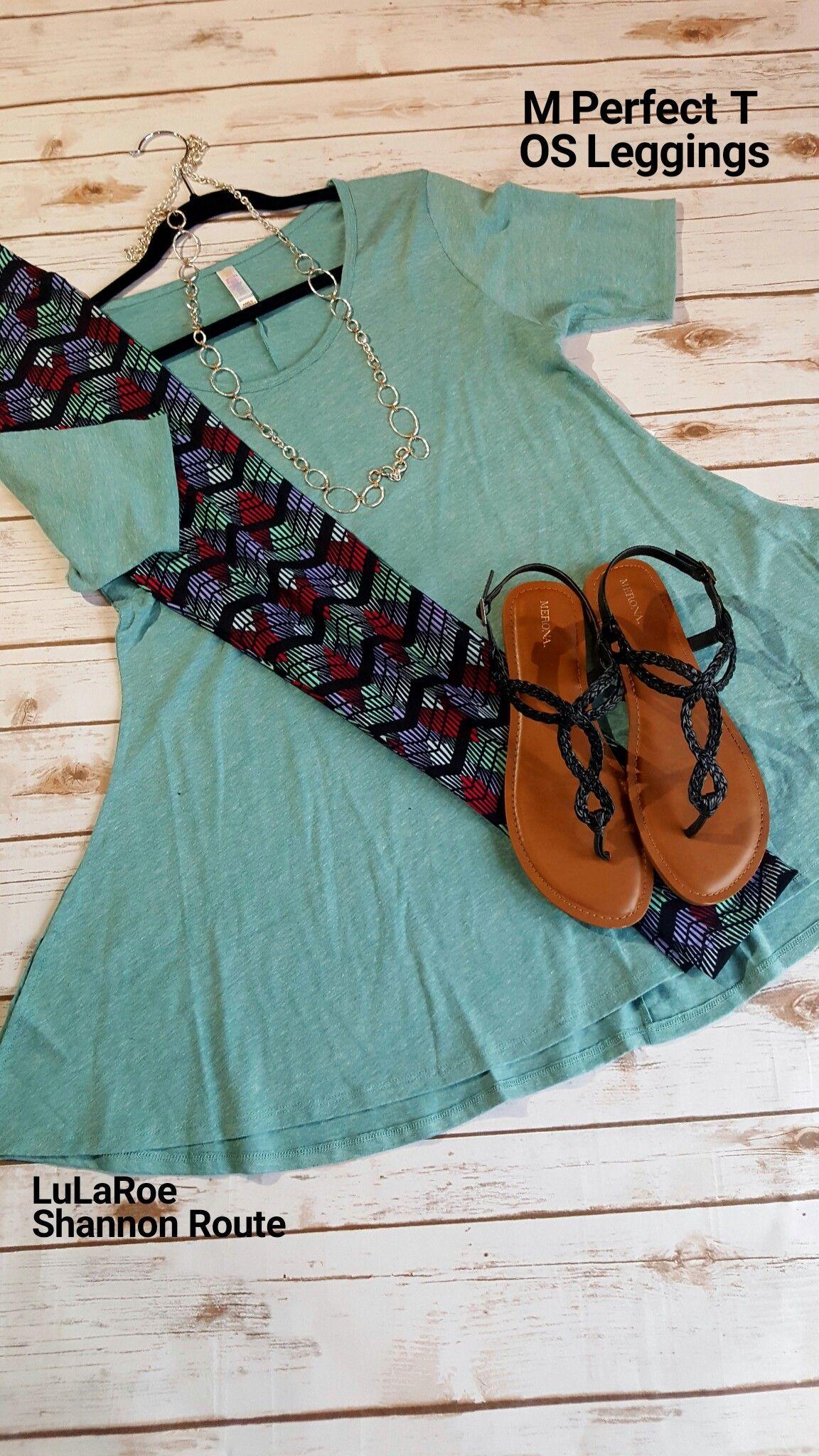 Great outfit for spring! #lularoe #lularoeoutfit #lularoeperfecttee #leggings #lularoeshannonroute #lularoeleggings