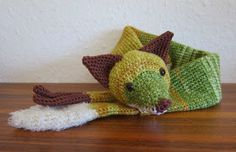 Free crochet pattern for fox scarf by  Stephi´s Köstlichkeiten
