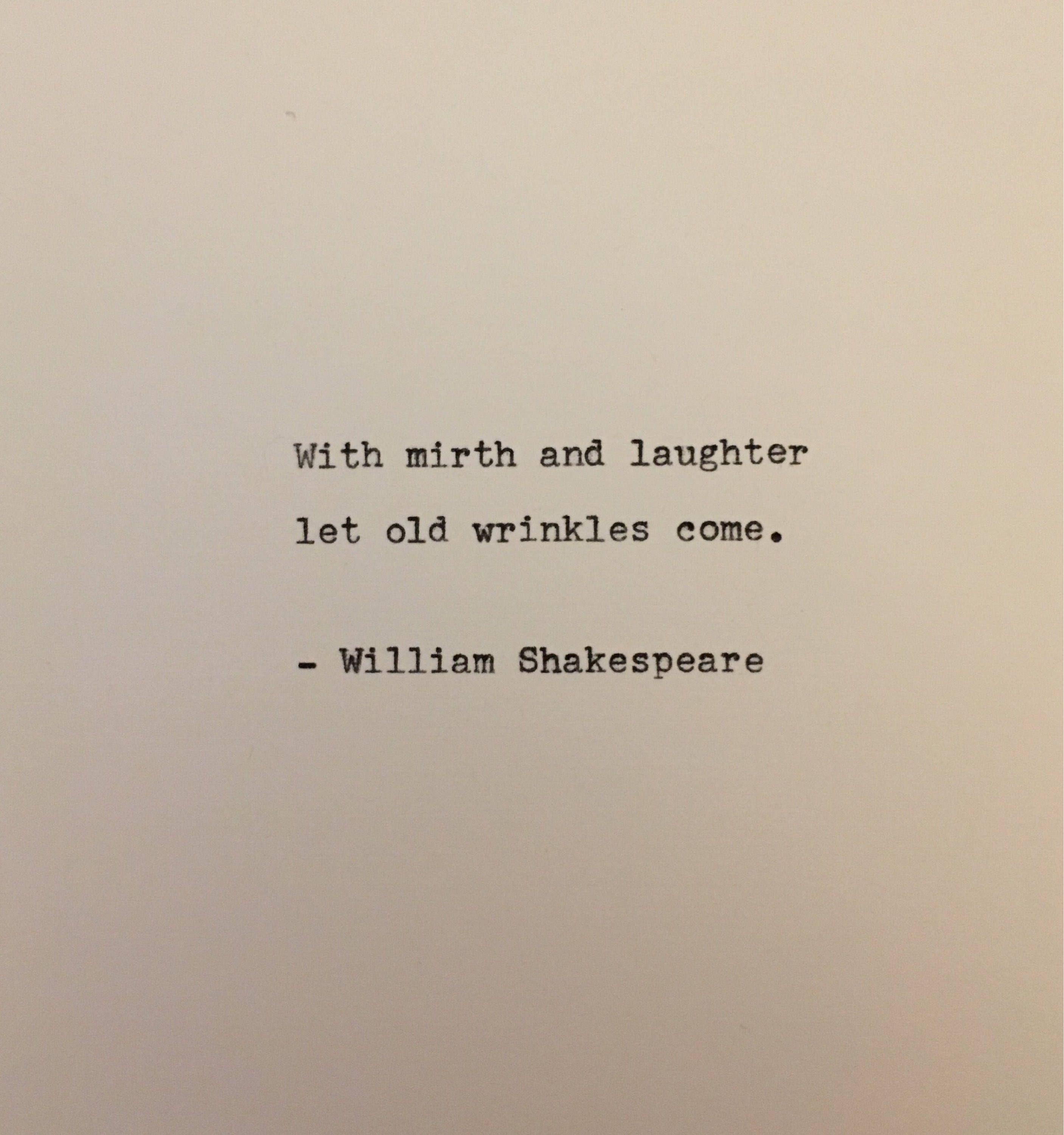 William Shakespeare Romeo and Juliet quote typed on typewriter   Etsy