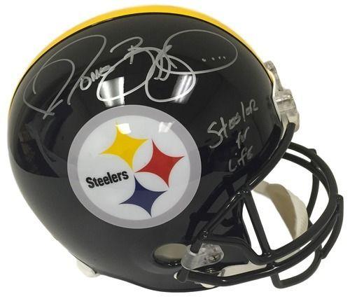 Jerome Bettis Signed Steelers Full Size Replica Helmet Steeler For Life JSA