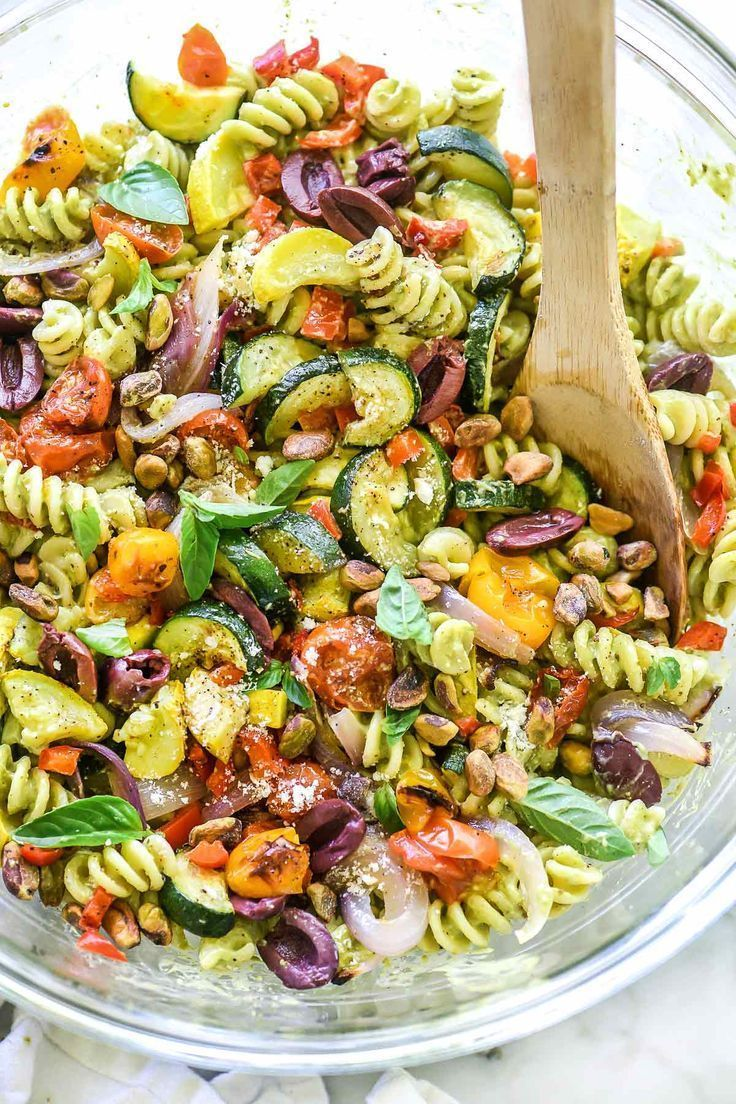 Creamy Avocado Pasta Salad with Roasted Vegetables -  Creamy Avocado Pasta Salad with Roasted Veget