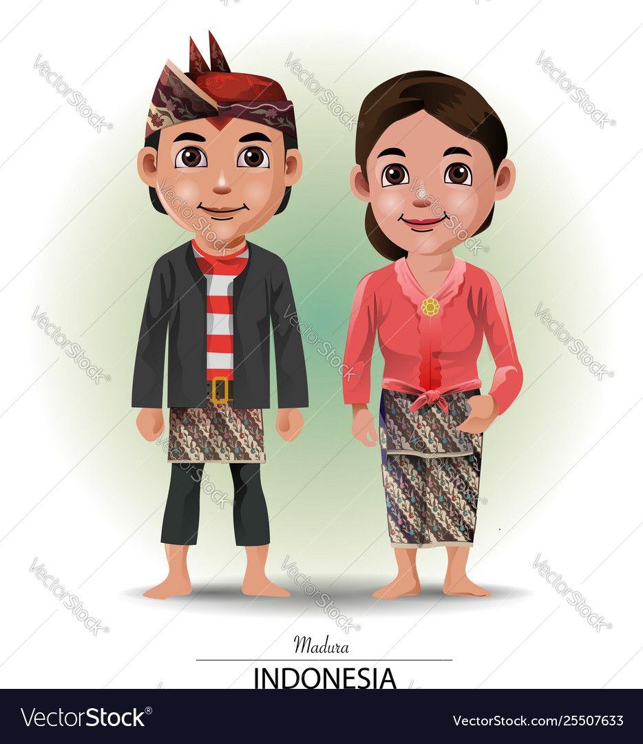 Pakaian Adat Yogyakarta Kartun