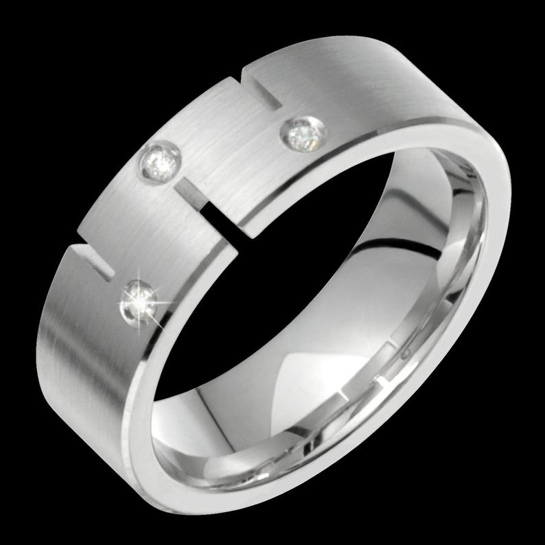 Men S 6mm Wide Comfort Fit 10k White Gold Solid Not Etsy In 2020 Diamond Wedding Bands White Gold Black Titanium Ring