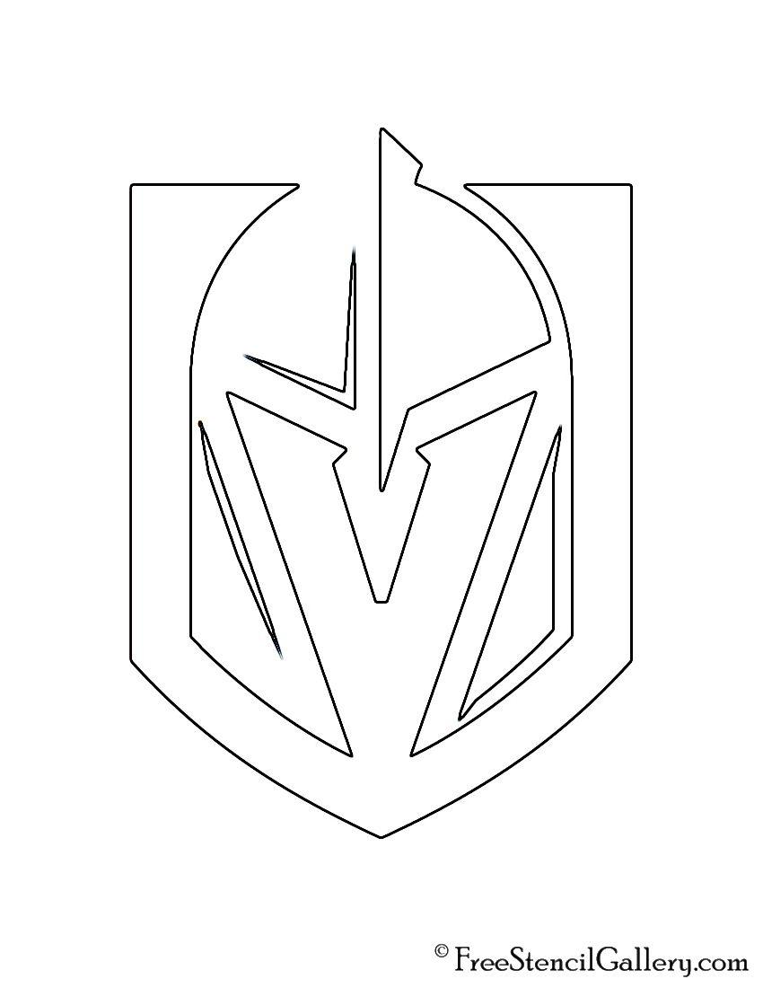 nhl team logo coloring pages | NHL - Vegas Golden Knights Logo Stencil | vgkproject ...