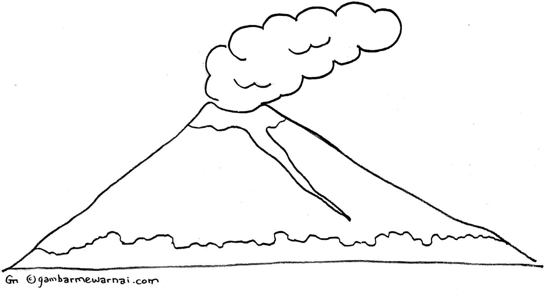 Gambar Mewarnai Gunung Thats Clever Pinterest