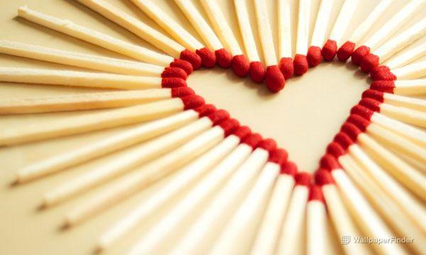 A Heart Of Matchsticks #lovewallpapers #heartwallpapers