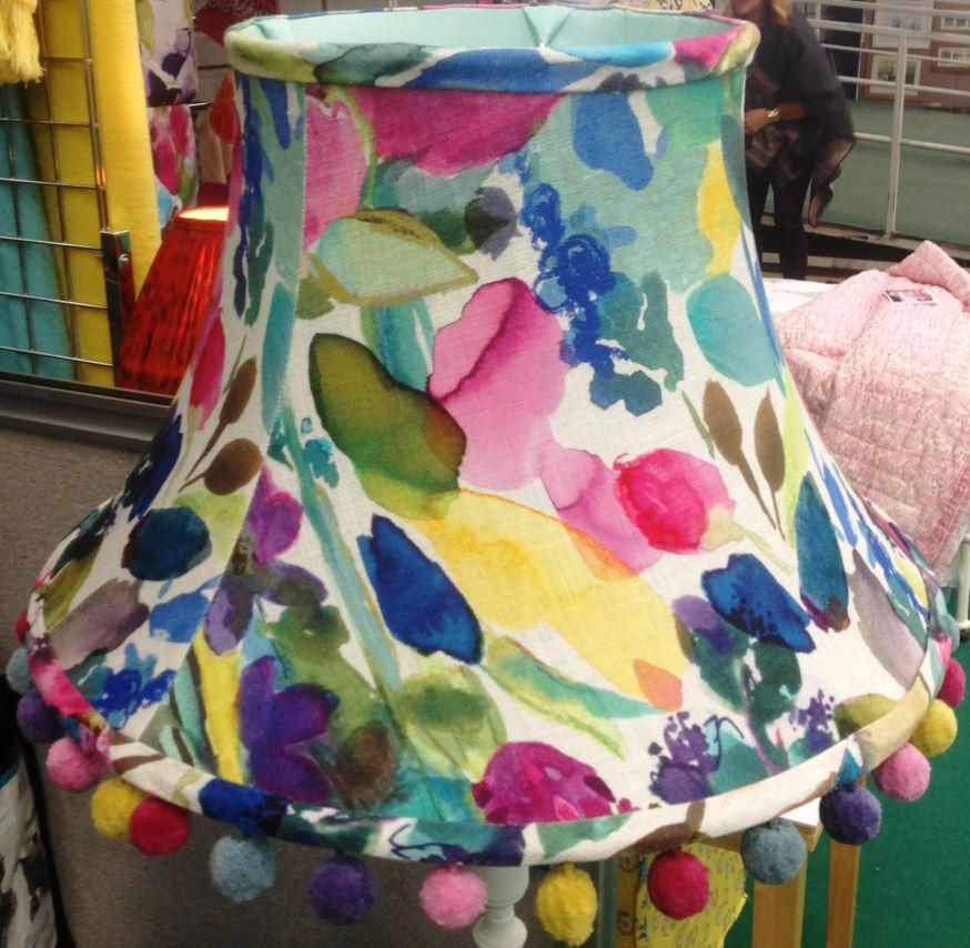 Julias lampshades has just finished this stunning handmade lampshade with petite mode fabric and trimmed with verena