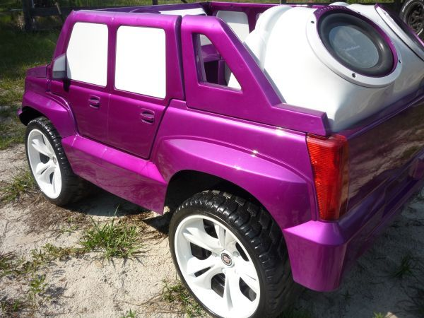Custom Escalade Power Wheels With Candy Purple Paint Power