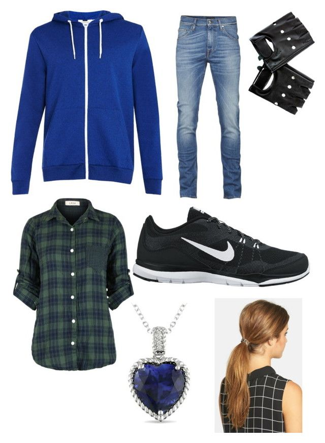 """A causal look"" by cheyennehago ❤ liked on Polyvore featuring NIKE and Ficcare"