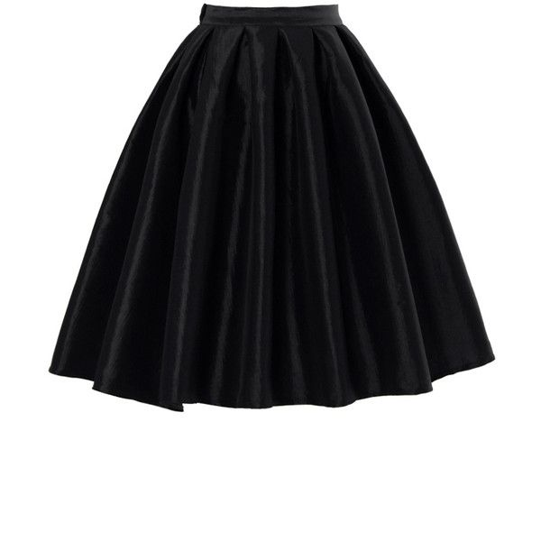 Chicwish Black A-line Midi Skirt (30 CAD) ❤ liked on Polyvore featuring skirts, bottoms, saias, black, high waisted midi skirt, a line skirt, black high waisted skirt, mid-calf skirt and black knee length skirt