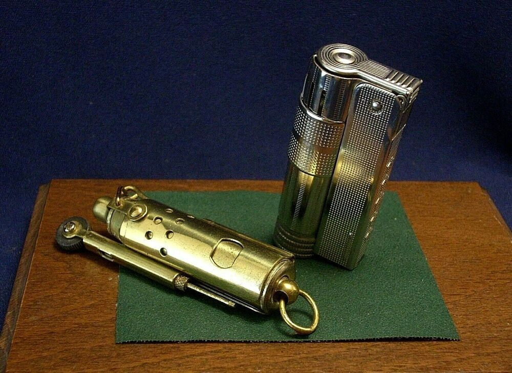 2 LIGHTERS BRASS TRENCH & IMCO- TRIPLEX SUPER 6700   OLD