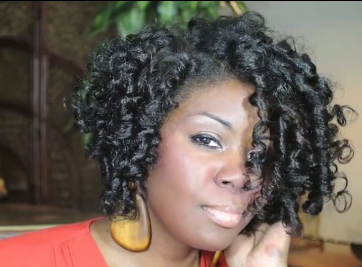 Flexi. Rods on natural hair