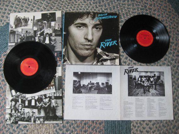 Vintage Bruce Springsteen The River Vinyl Lp By Sweetleafvinyl 9 99 Springsteen The River Vinyl Sales Bruce Springsteen