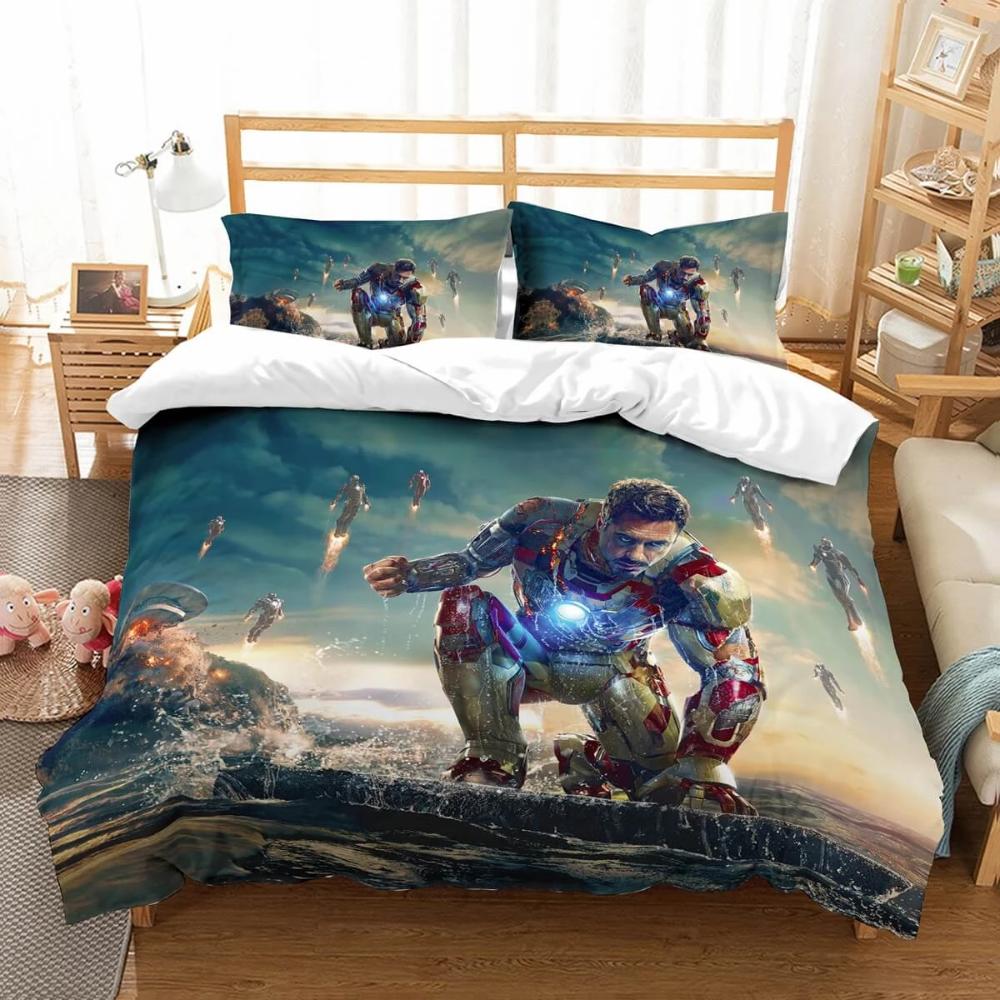 3d Customize Iron Man Bedding Set Duvet Cover Set Bedroom Set Bedlinen Westbedding In 2020 Duvet Bedding Sets Duvet Cover Sets Mens Bedding Sets