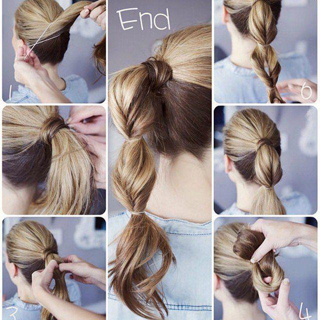 Simple Ponytail Hairstyle Tutorial | Simple ponytail hairstyles ...