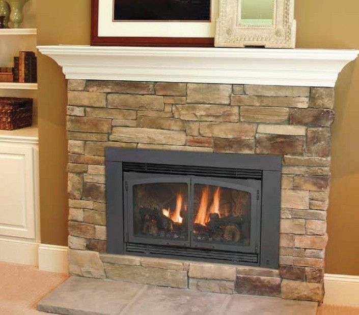 Ventless Gas Fireplace Insert Family Room Description From