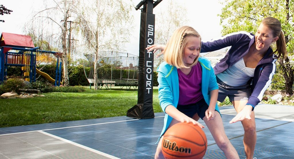 Benefits To Play Sports With Your Family Members Home Basketball Court Sport Court Basketball Court Backyard