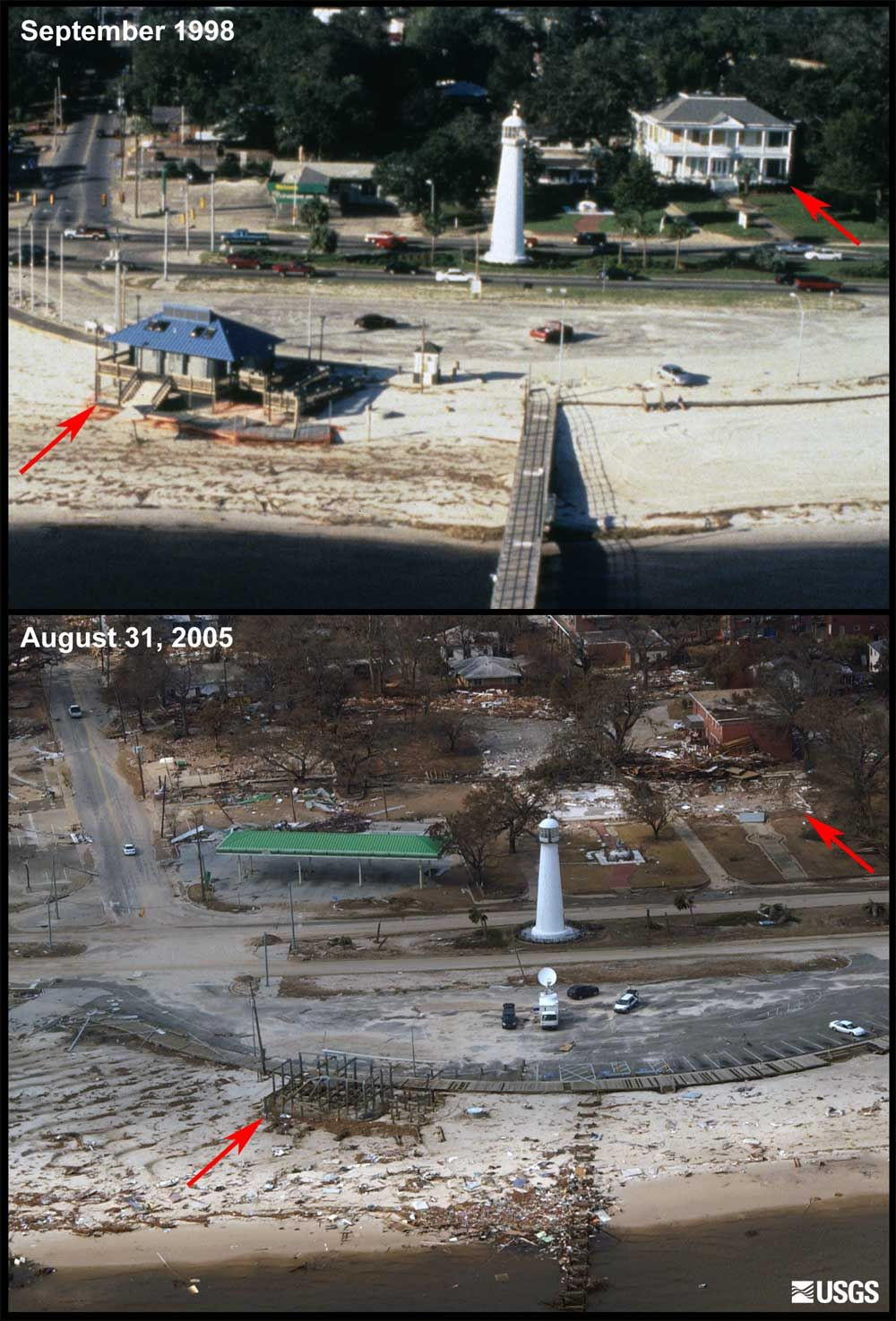 After Hurricane Katrina Before And After Biloxi Mississippi Hurricane Katrina Katrina Picture Hurricane Camille