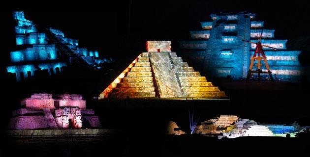 5 espectáculos de luz y sonido que no te puedes perder en zonas arqueológicas de México. Te presentamos las cinco funciones multimedia más asombrosas para acercarte a la historia y monumentalidad de importantes capitales indígenas como Chichén Itzá, Edzná, El Tajín, Uxmal y Xochicalco.