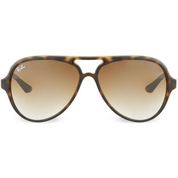 27caa64ad8b Ray-Ban Cats 5000 sunglasses in light havana with brown gradient... ( 150)  ❤ liked on Polyvore featuring accessories