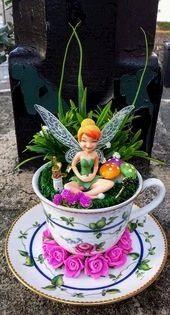 Simple DIY Teacups Mini Garden Ideas That Lend Your Home Luck   fairy 40 Simple DIY Teacups Mini Garden Ideas That Lend Your Home Luck   fairy  This lovely tea cup fairy...