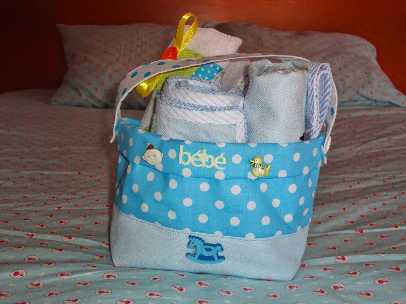 Fada Mimos: Confeccionei este cesto para o nascimento de um me...