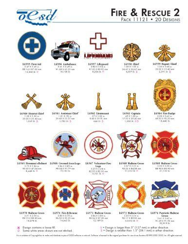 Oesd Embroidery Machine Designs Fire Rescue 2 11121 By Oesd Http