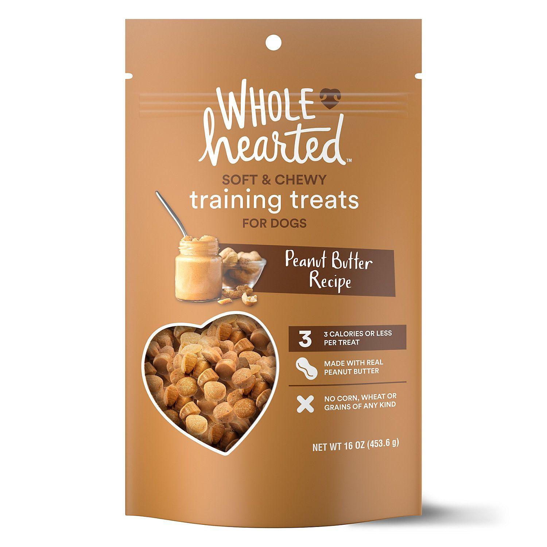 Wholehearted Grain Free Tender Tidbits Peanut Butter Recipe Dog Training Treats 16 Oz Petco Dog Food Recipes Peanut Butter Recipes Training Treats