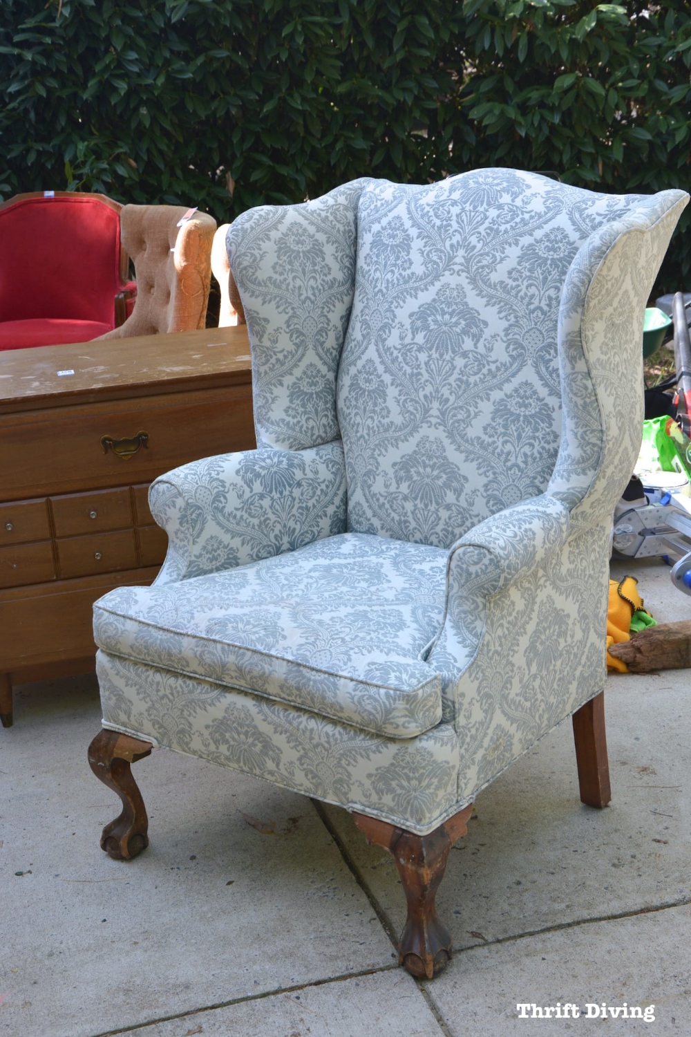 How To Reupholster A Wingback Chair: Step-by-Step Video