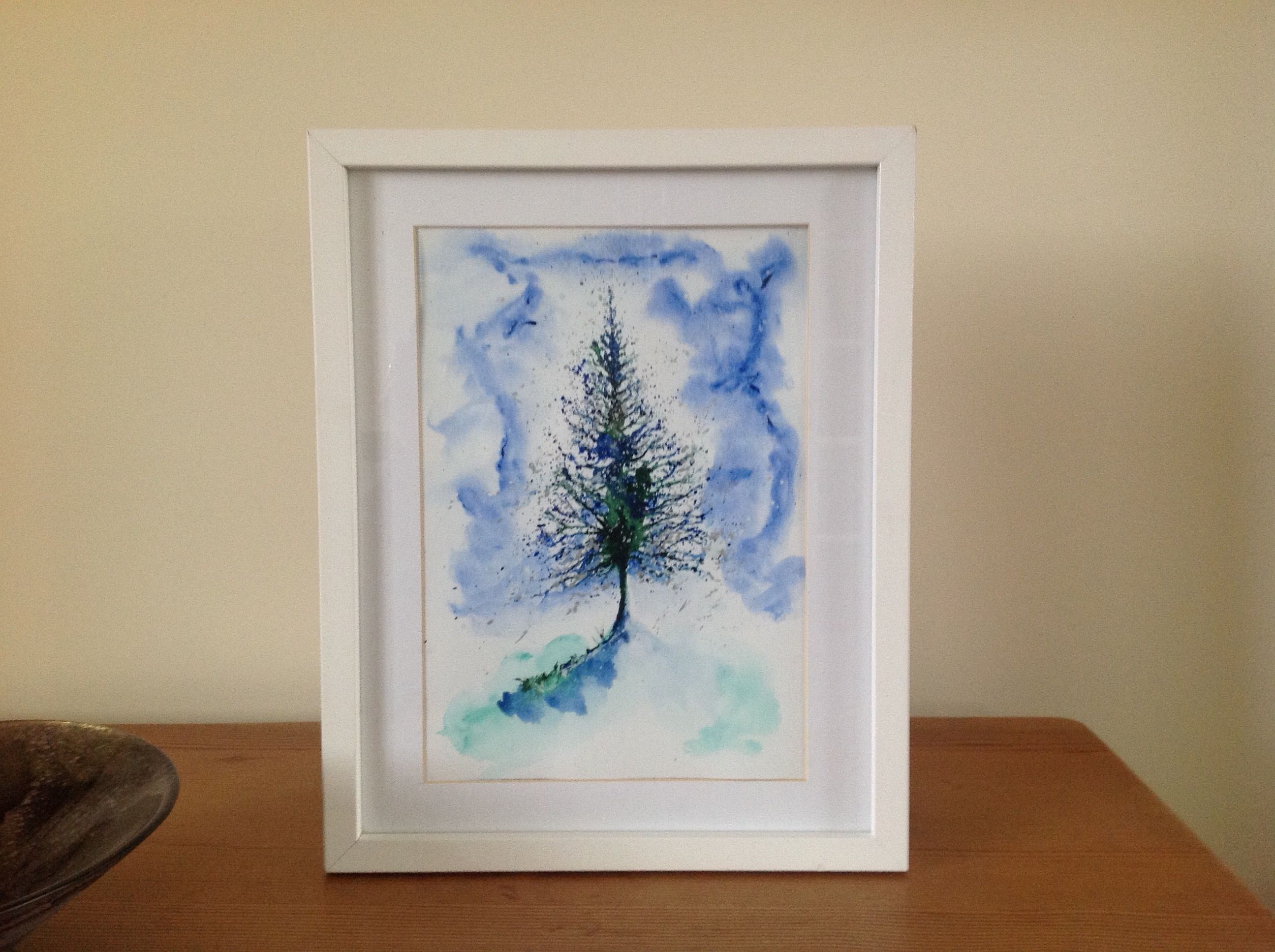 Snow is in the Air. Watercolour. See more at https://www.artfinder.com/tina-hiles