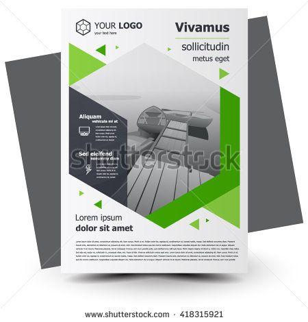 Flyer brochure design, business flyer size A4 template, creative - geometric flyer template