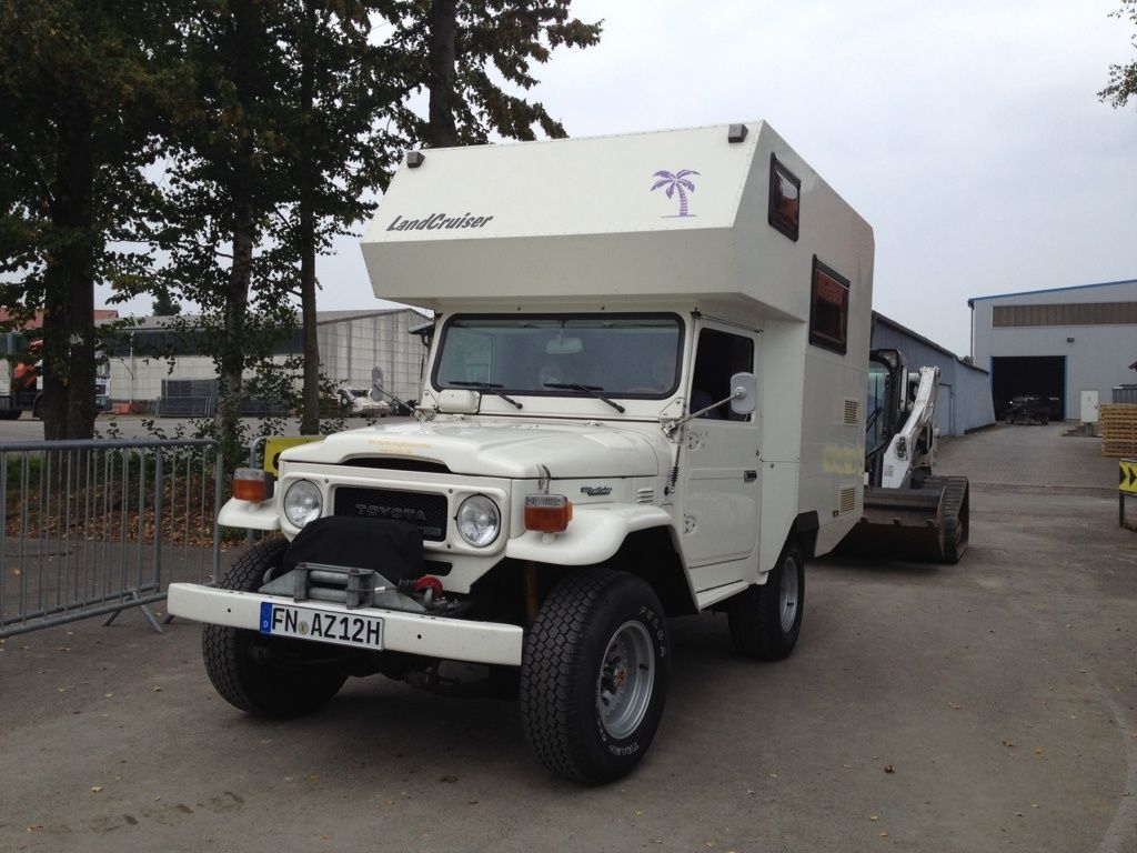 Beautiful old toyota landcruiser fj40 with alcove camper seen at http forum