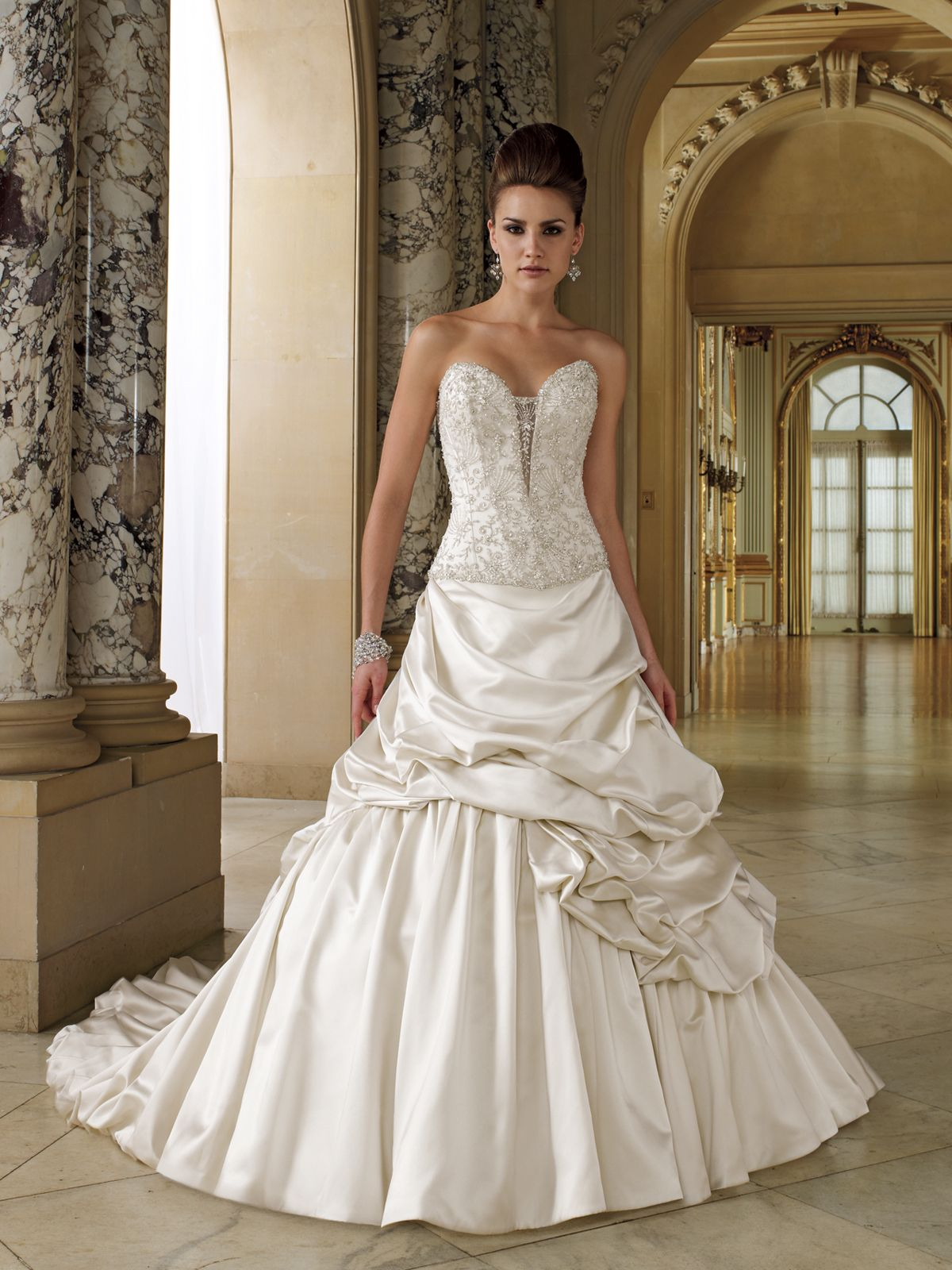 Wedding dresses and bridals gowns by David Tutera for Mon Cheri for every bride at an affordable price | Wedding Dresses|style #112202 - Falsette