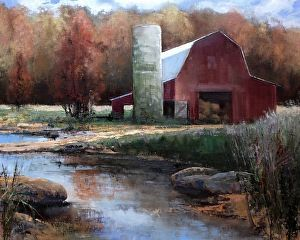 Fall On Sugar Creek by Karen Philpott in the FASO Daily Art Show