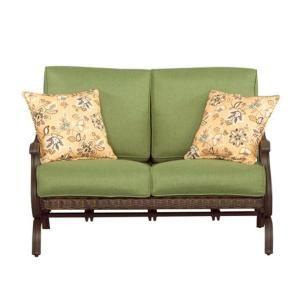 Hampton Bay Pembrey Patio Loveseat With Moss Cushion Hd14206 Lv