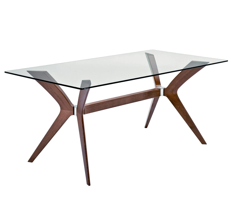 Heal S Calligaris Tokyo Dining Table Glass Walnut Rectangular