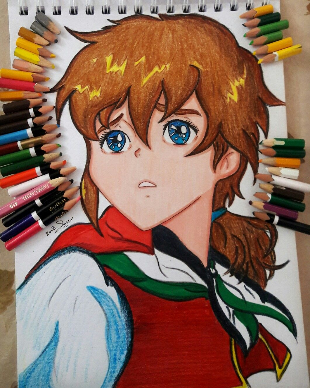 Reemy My Drawing رسمتي لريمي Anime Cartoon Girl Spacetoon Drawing Paint Colore Cute Palestine Drawings My Drawings Cartoon Drawings