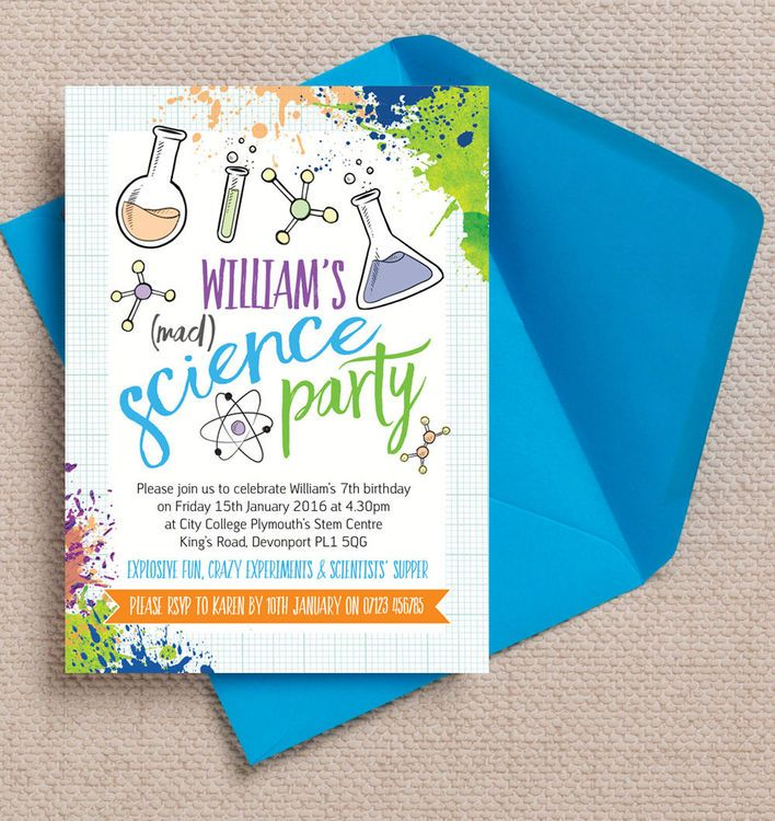 Mad Science Party Invitation Mad science party Science party and