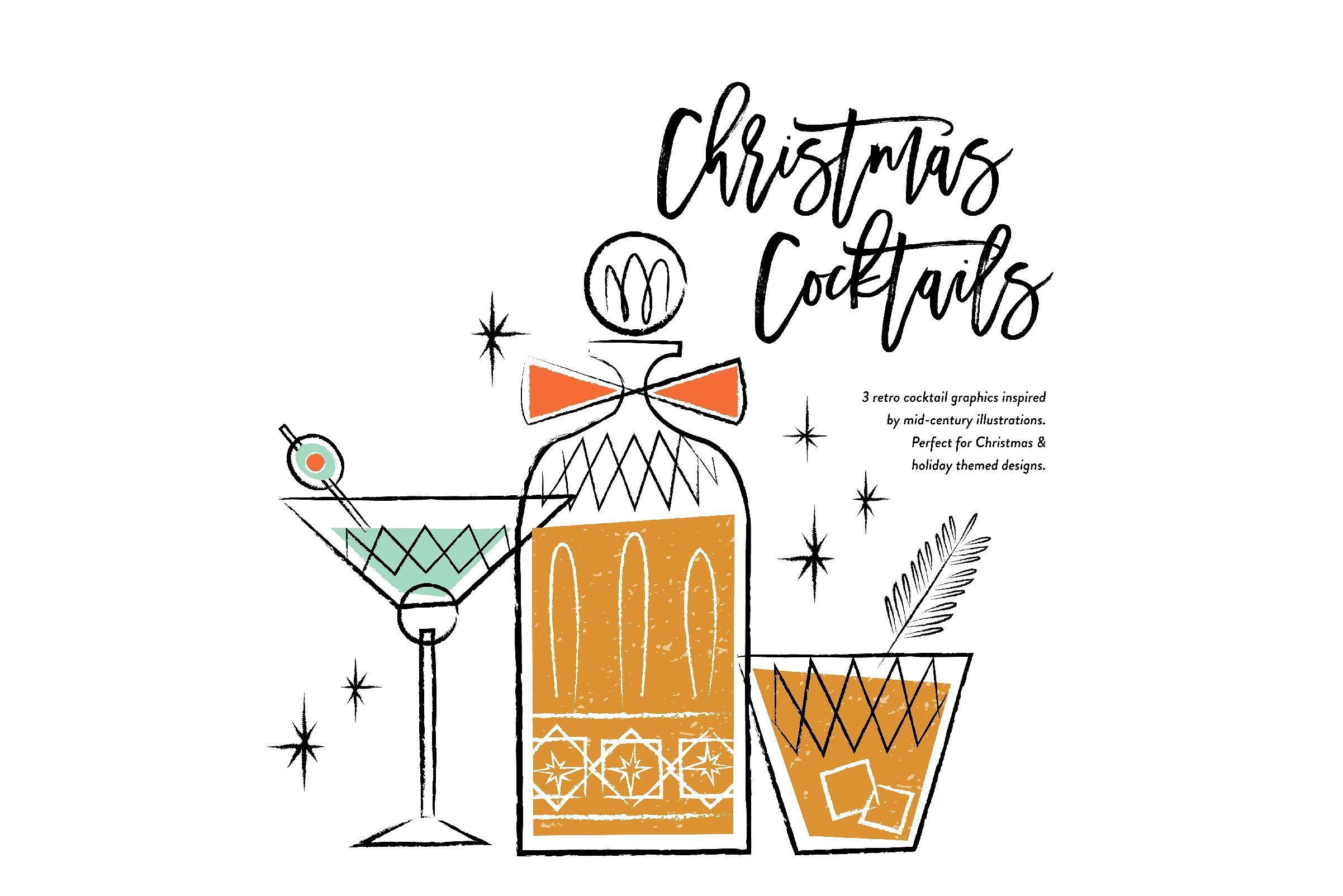 Vintage Christmas Cocktails #retro#holidays#cocktail