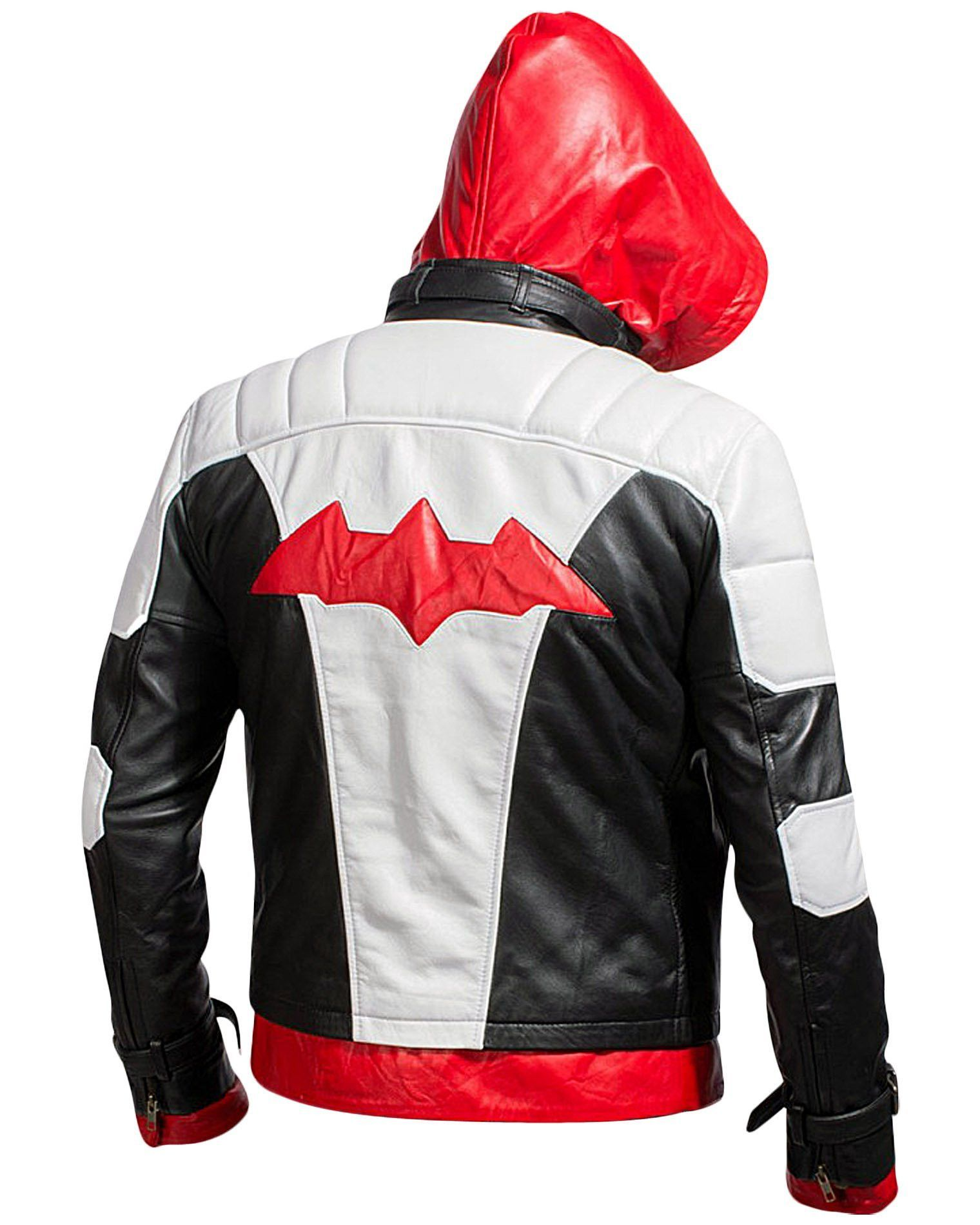 e9b38e1e962f Bat Logo Knight Red Hood Jacket with Vest Arkham Era The Hooded Bat Knight  Man Jacket gets a 2 in 1 Style allowing you to carry it both as a Vest and  ...